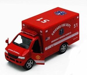 Kinsmart Chicago Rescue Team Ambulance, - Kinsmart 5259Dcg - 5&Quot