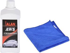 Lalan Automotive Wax Shampoo (500 ml ) + Microfibre Cloth Car Washing Liquid
