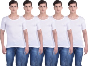 Lux mens half sleeves cotton vest (pack of 5)