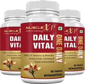 MuscleXP Daily Vital (One Daily) Multi Vitamin (Pack Of 3)