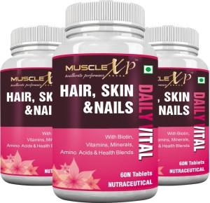 MuscleXP Biotin Hair, Skin & Nails (Pack of 3)