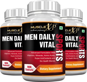 MuscleXP MultiVitamin Men Daily Sports with 49 Nutrients (6 Health Blends & Amino Acids) (Pack Of 3)