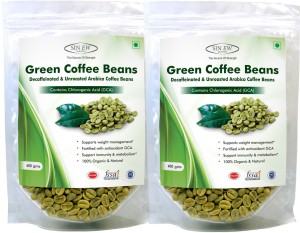 Sinew Sinew Nutrition Green Coffee Beans for Weight Loss 800Gm (400Gm X 2), Arabica Grade