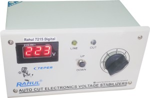Rahul 7215 a Digital 600 VA/2 AMP 90-260 VOLT 1 Air Coolers Autocut Voltage Stabilizer Digital Auto Cut Stabilizer