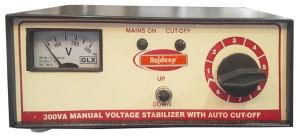Rajdeep Manual Autocut 90v 300 watts 90v Step up Manual Voltage Stabilizer