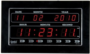 Ajanta Digital Wall Clock Black With Glass Best Price In India