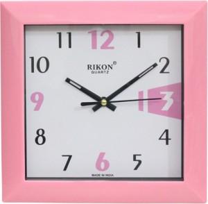 d416b4b95 RIKON Analog Wall Clock ( PINK WHITE With Glass )