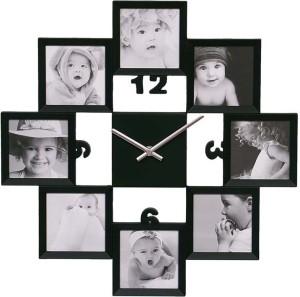 Basement Bazaar Analog Wall Clock Black With Glass Best Price In