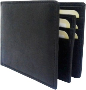REBECO Men Black Genuine Leather Wallet