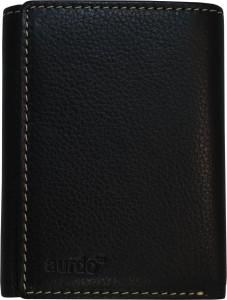 AurDo Men Black Genuine Leather Wallet