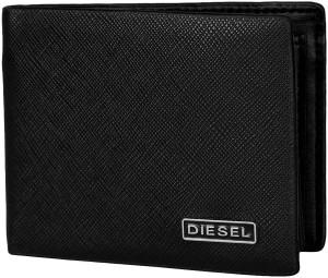 Diesel Men Black Genuine Leather Wallet