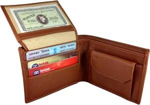 SA Enterprises Men Tan Artificial Leather Wallet