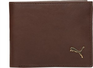 Puma Men Brown Genuine Leather Wallet