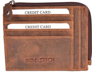 Hidestitch Men Brown Genuine Leather Card Holder