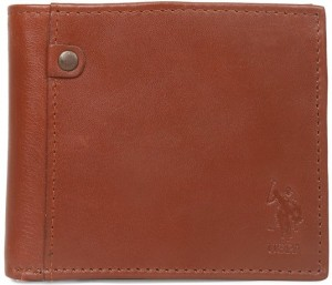 U.S. Polo Assn. Men Tan Genuine Leather Wallet