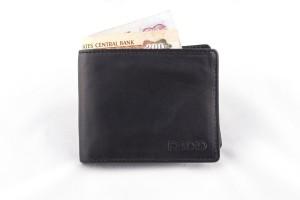 Rodid Men Black Genuine Leather Wallet