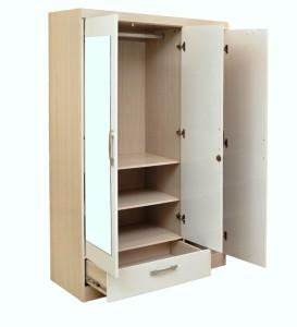 HomeTown Apollo Engineered Wood 3 Door Wardrobe