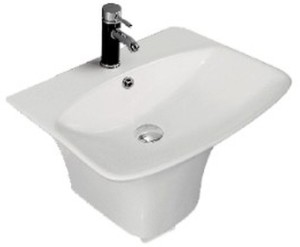 Cera One Piece Wash Basin Claus 1094 Semi Pedestal