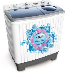 Mitashi 7 kg Semi Automatic Top Load Washing Machine White