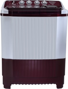 Intex 8.0 kg Semi Automatic Top Load Washing Machine White, Red
