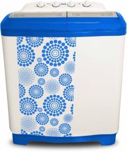 Mitashi 7.5 kg Semi Automatic Top Load Washing Machine White, Blue