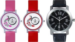 Frida Designer VOLGA Beautiful New Branded Type Watches Men and Women Combo616 VOLGA Band Analog Watch  - For Couple