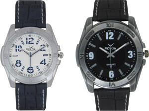 Volga Branded Leather Quality Designer Dial Diwali Special Combo486 Designer Sport Looks WaterProof Mens Watch Analog Watch  - For Men