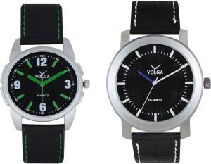 Volga Branded Leather Quality Designer Dial Diwali Special Combo526 Designer Sport Looks WaterProof Mens Watch Analog Watch  - For Men