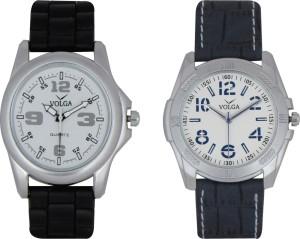 Volga Branded Leather Quality Designer Dial Diwali Special Combo17 Designer Sport Looks WaterProof Mens Watch Analog Watch  - For Men