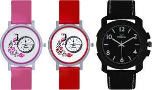 Frida Designer VOLGA Beautiful New Branded Type Watches Men and Women Combo600 VOLGA Band Analog Watch  - For Couple