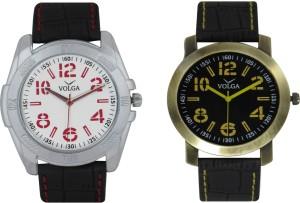 Volga Branded Leather Quality Designer Dial Diwali Special Combo565 Designer Sport Looks WaterProof Mens Watch Analog Watch  - For Men