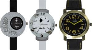 Frida Designer VOLGA Beautiful New Branded Type Watches Men and Women Combo397 VOLGA Band Analog Watch  - For Couple