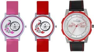 Volga Designer FVOLGA Beautiful New Branded Type Watches Men and Women Combo162 VOLGA Band Analog Watch  - For Couple