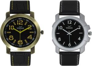 Volga Branded Leather Quality Designer Dial Diwali Special Combo613 Designer Sport Looks WaterProof Mens Watch Analog Watch  - For Men