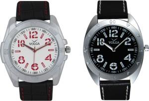 Volga Branded Leather Quality Designer Dial Diwali Special Combo563 Designer Sport Looks WaterProof Mens Watch Analog Watch  - For Men