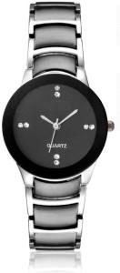 Spinoza iik black silver stylish watch for girls Analog Watch  - For Women