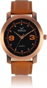 Volga VLW050021 Partywear Leather belt With Designer Stylish Branded Fancy box Analog Watch  - For Men