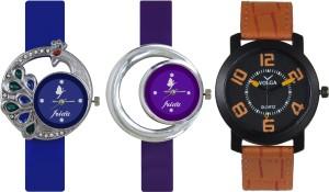 Frida Designer VOLGA Beautiful New Branded Type Watches Men and Women Combo458 VOLGA Band Analog Watch  - For Couple