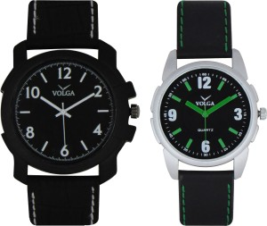 Volga Branded Leather Quality Designer Dial Diwali Special Combo243 Designer Sport Looks WaterProof Mens Watch Analog Watch  - For Men