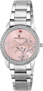 Decode Ladies Crystal Studded LR-026 pink Analog Watch  - For Women