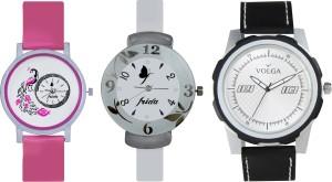Volga Designer FVOLGA Beautiful New Branded Type Watches Men and Women Combo168 VOLGA Band Analog Watch  - For Couple