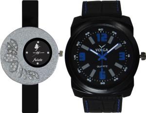 Frida Designer VOLGA New Branded Type Watches Men and Women Combo26 VOLGA Frida Couple Analog Watch  - For Couple