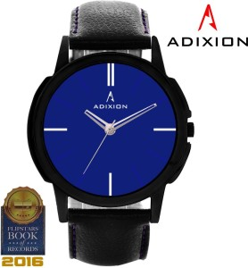 Adixion 9502NL04 New Black Strep watch with Genuine Leather Analog Watch  - For Men & Women