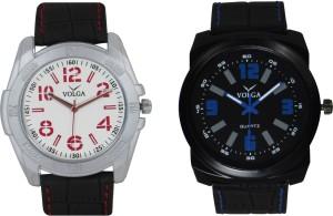 Volga Branded Leather Quality Designer Dial Diwali Special Combo564 Designer Sport Looks WaterProof Mens Watch Analog Watch  - For Men