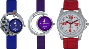 Frida Designer VOLGA Beautiful New Branded Type Watches Men and Women Combo447 VOLGA Band Analog Watch  - For Couple