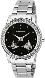 Decode Ladies Crystal Studded 21-030 Black Analog Watch  - For Women