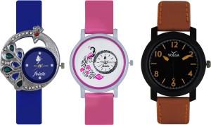 Frida Designer VOLGA Beautiful New Branded Type Watches Men and Women Combo420 VOLGA Band Analog Watch  - For Couple