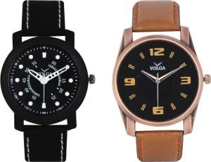 Volga Branded Leather Quality Designer Dial Diwali Special Combo267 Designer Sport Looks WaterProof Mens Watch Analog Watch  - For Men