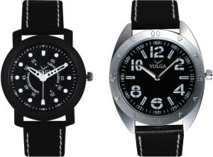 Volga Branded Leather Quality Designer Dial Diwali Special Combo276 Designer Sport Looks WaterProof Mens Watch Analog Watch  - For Men