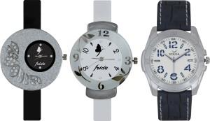 Frida Designer VOLGA Beautiful New Branded Type Watches Men and Women Combo388 VOLGA Band Analog Watch  - For Couple